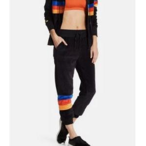 C&C California Velour Velvet Joggers Striped XL